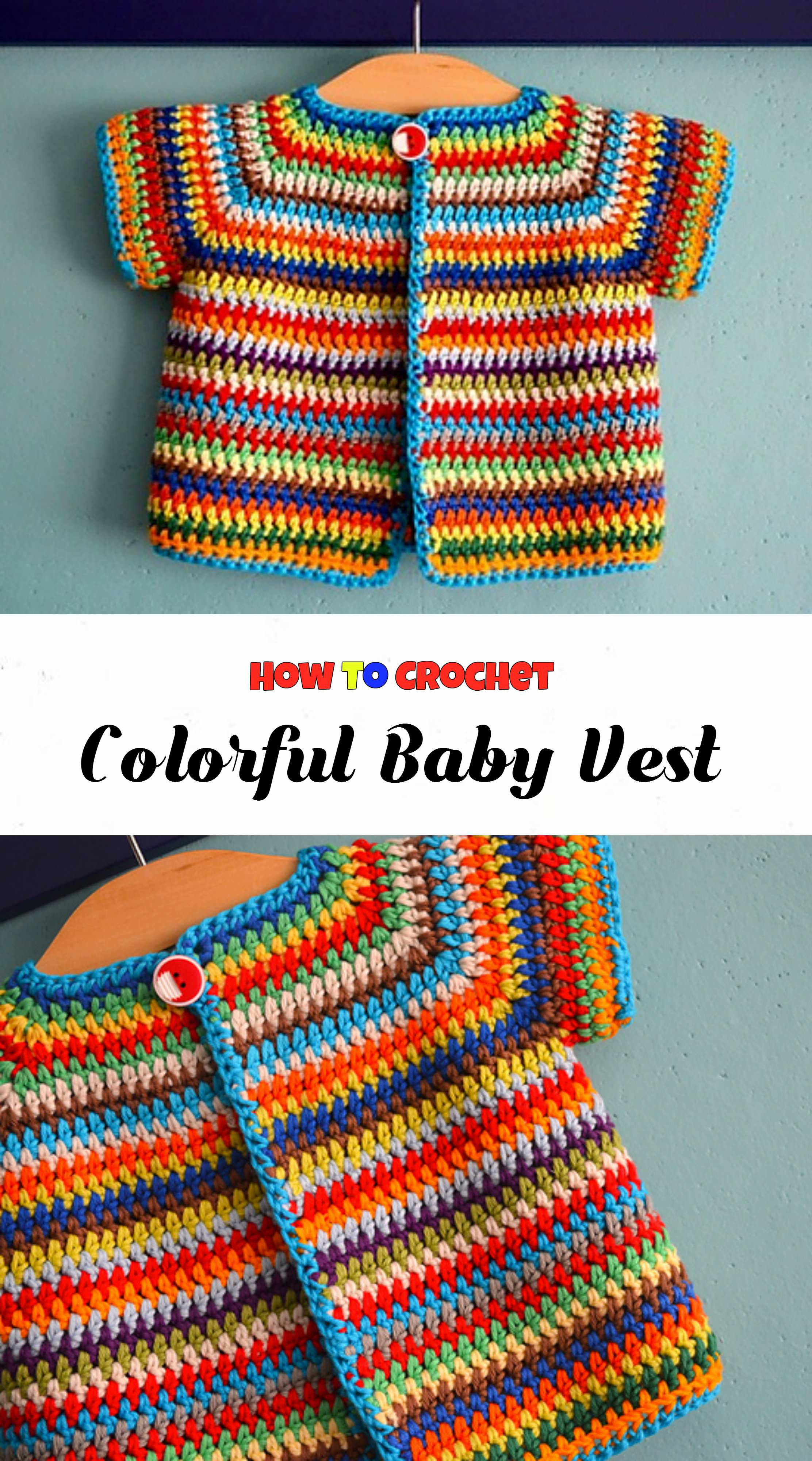 here we have very beautiful vest for your babies and of course with free pattern by annelies baes thanks to author for awesome design and clearly explained