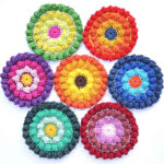 Crochet Color Burst Coasters