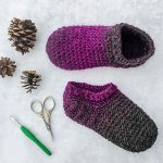 Crochet Star Gazer's Slippers