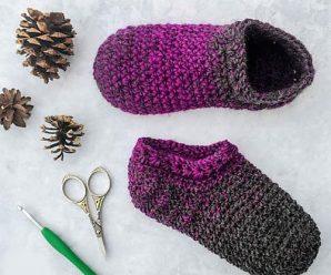 Crochet Star Gazer's Slippers