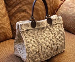Crochet Cable Purse