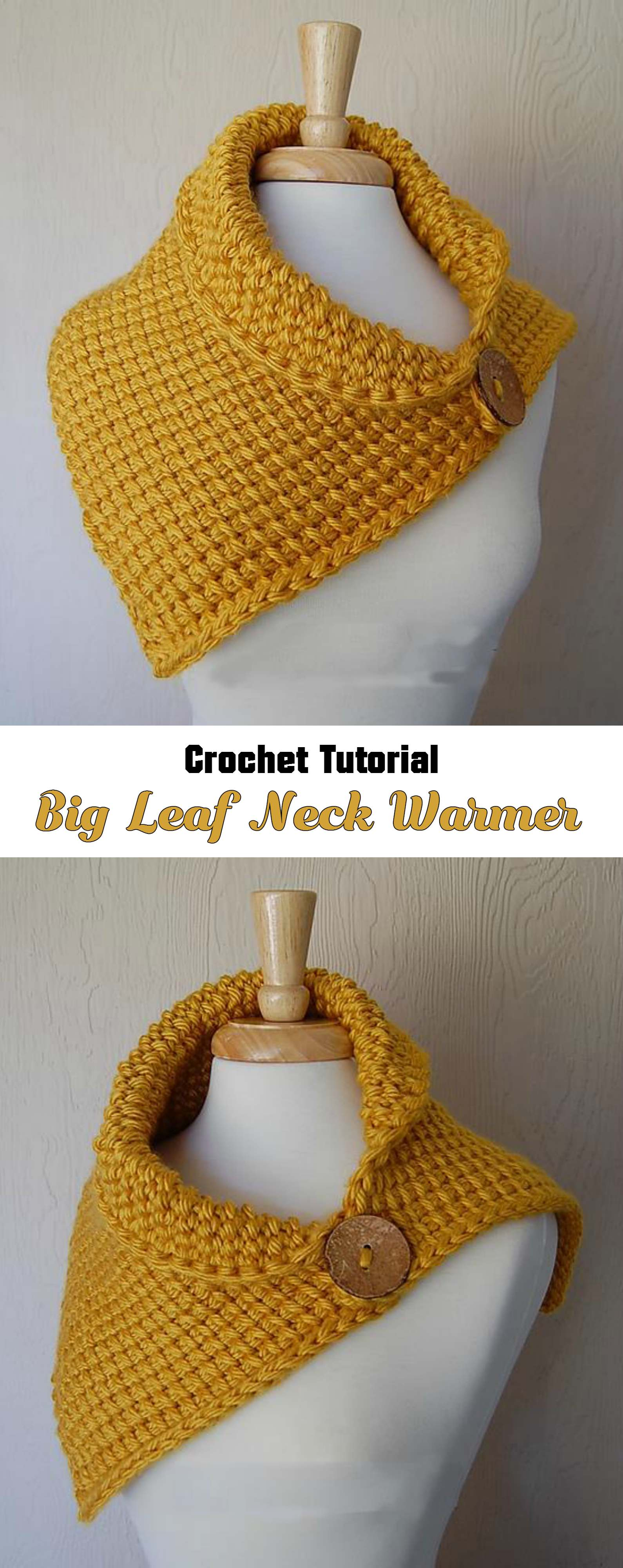 Crochet Leaf Neck Warmer - Pretty Ideas