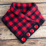 Crochet Buffalo Plaid Cowl