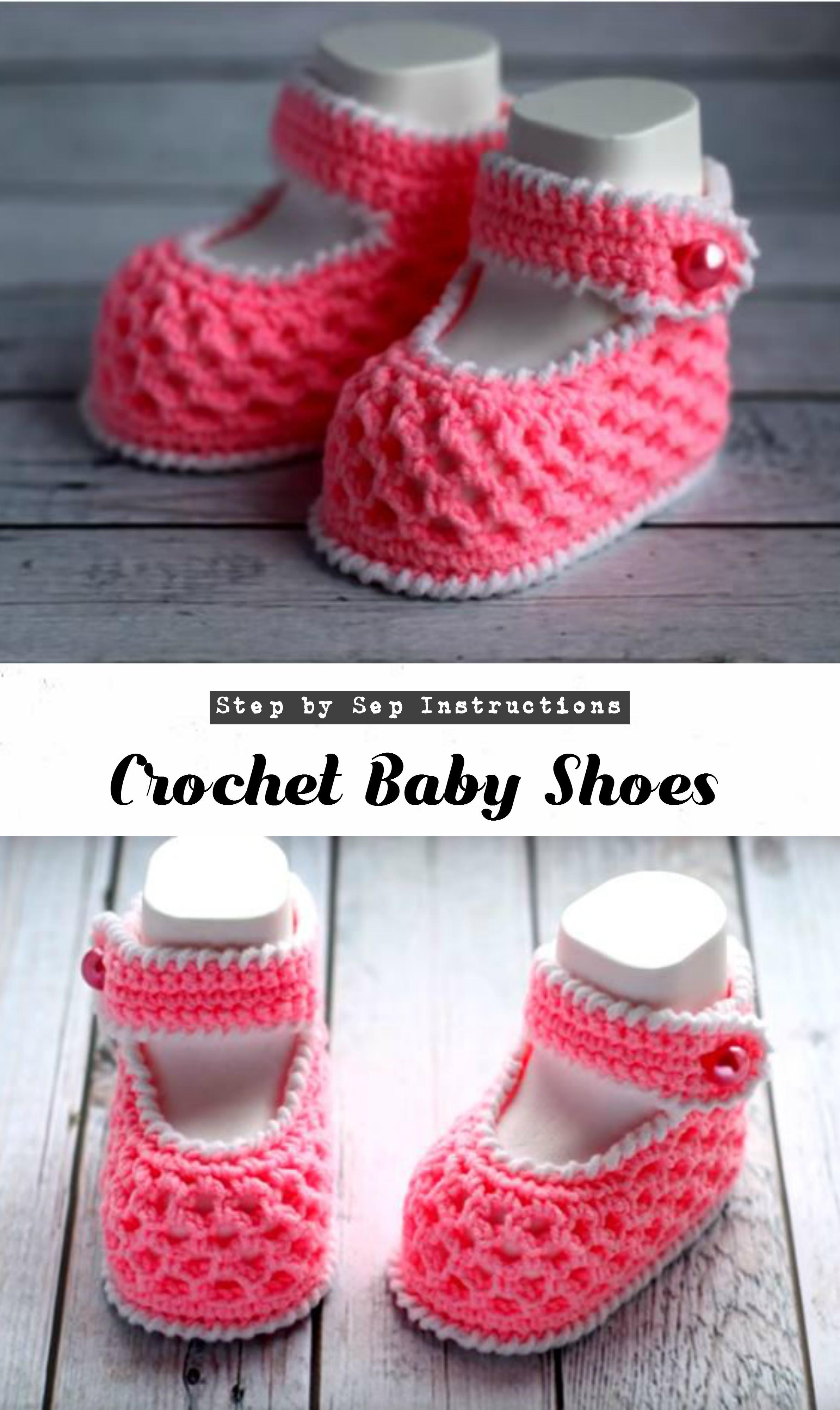 7ec958fb54ed3 Crochet Baby Shoes - Pretty Ideas