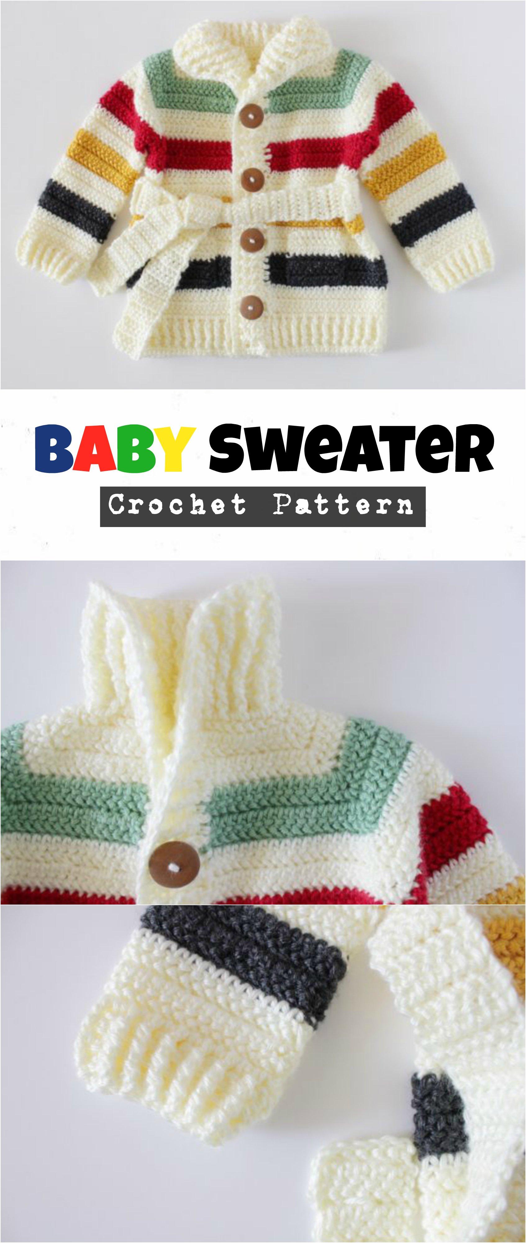 Crochet Baby Sweater Pretty Ideas