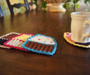 Crochet Cupcake Coasters