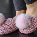 Crochet Pom Pom Shoes