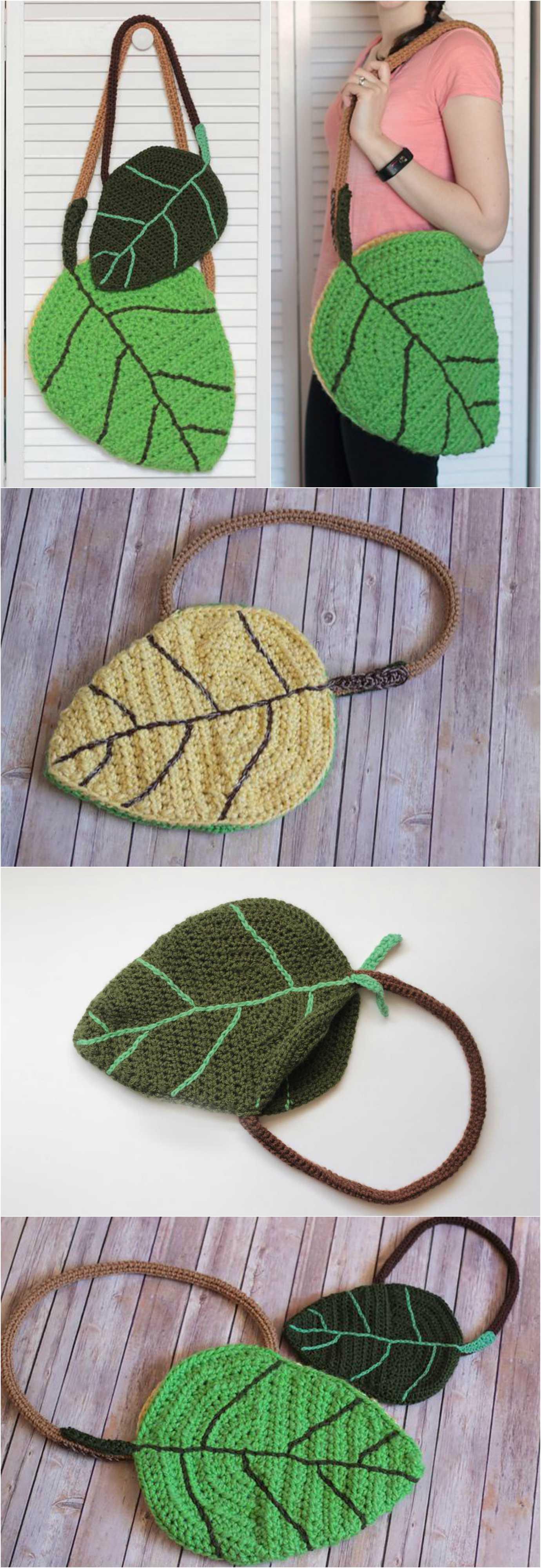 Crochet Leaf Bag