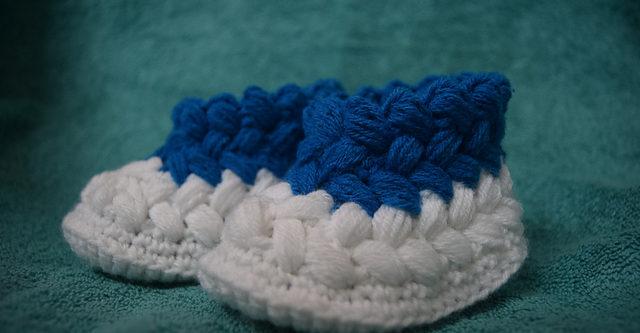 Crochet Puff Booties