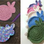 Crochet Easter Bunny Coasters