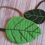 Crochet Leaf Bag