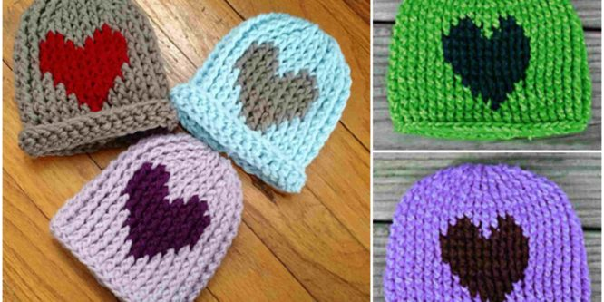 Crochet Quick Hat With Heart