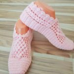 Crochet Puff Diamond Slippers