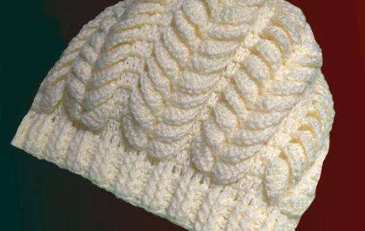 Crochet Jasmine Leaves Hat