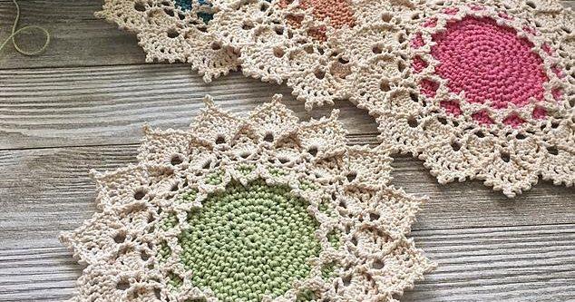 Crochet Sunmote Coasters