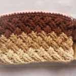 Crochet Celtic Weave Zipper Purse