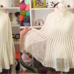 Tulip Poncho With Long Sleeves