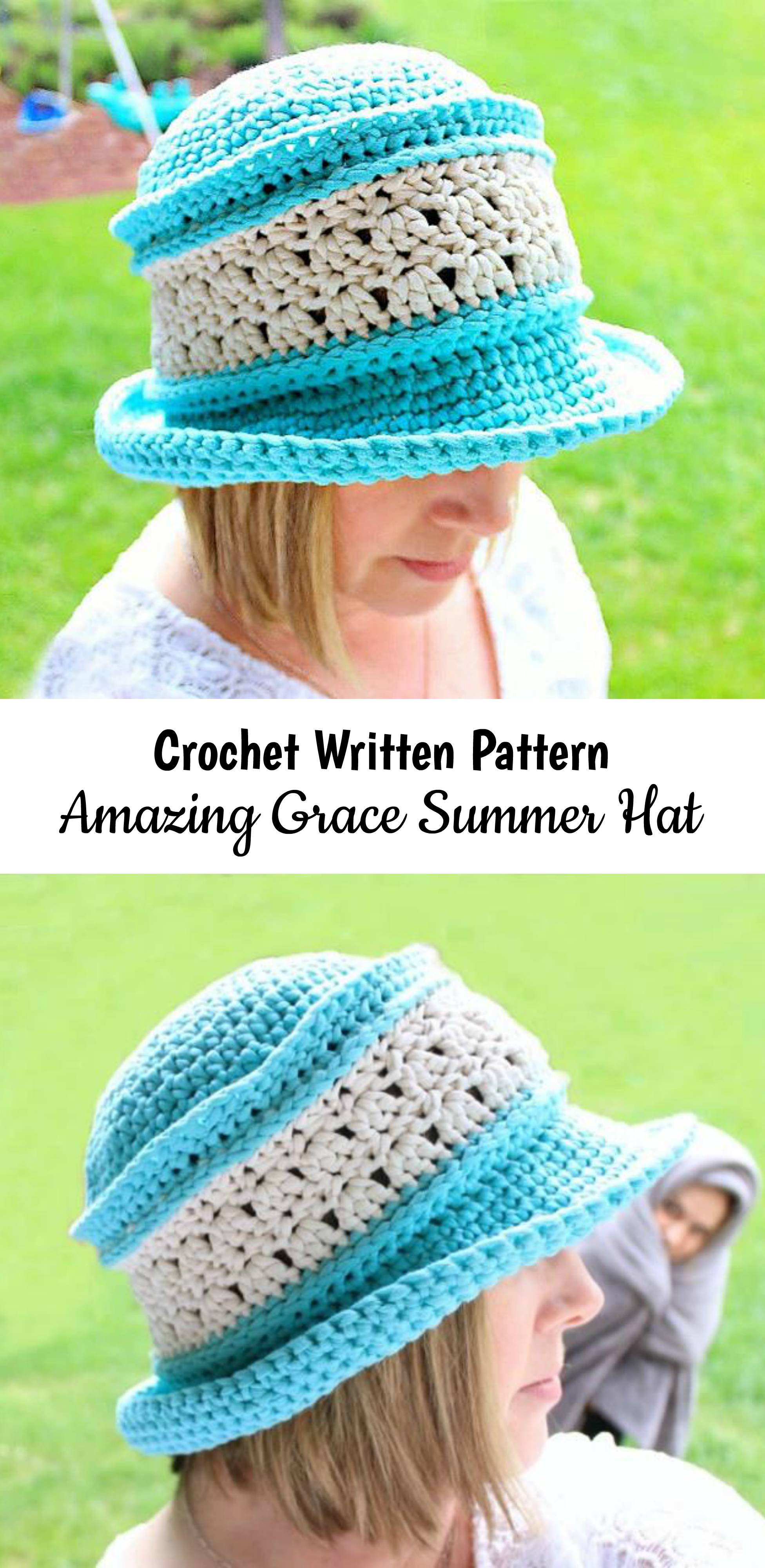 Crochet Amazing Grace Summer Hat