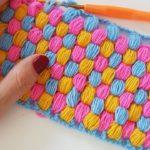 Crochet Honeycomb Puff Stitch