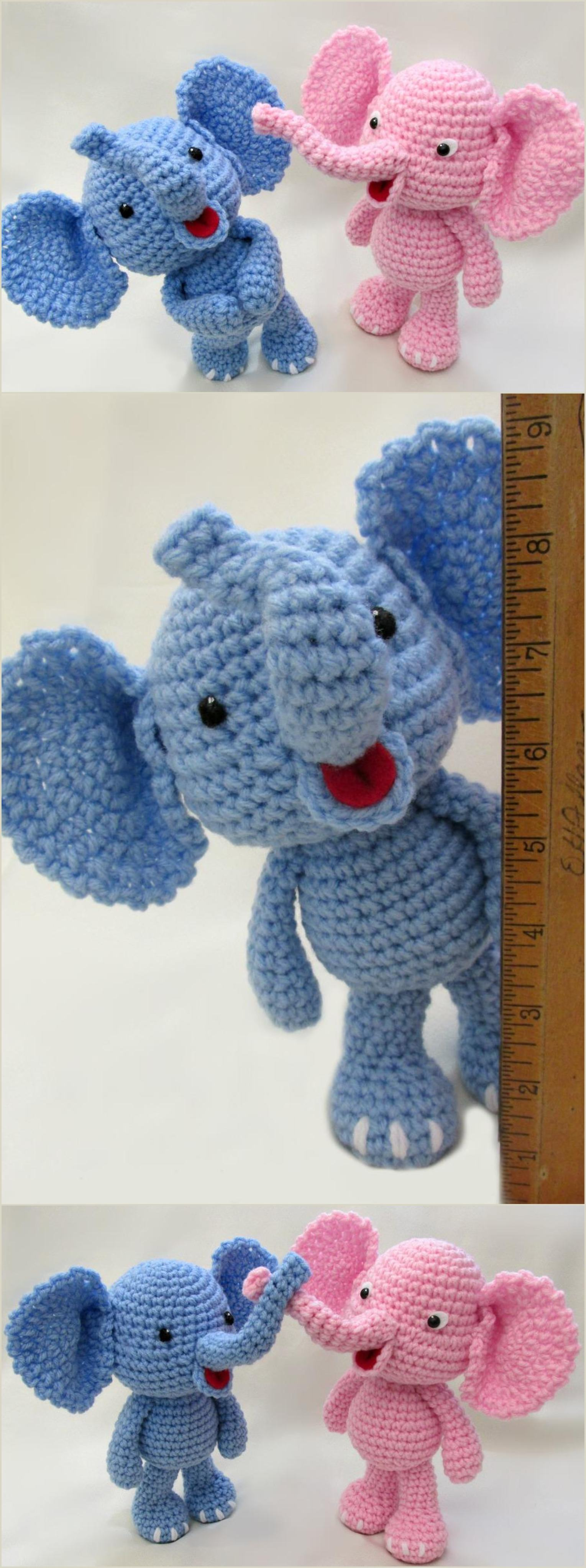 Amigurumi Elephant Free Crochet Pattern | 4088x1529