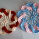 Crochet Interlaced Petals Flower