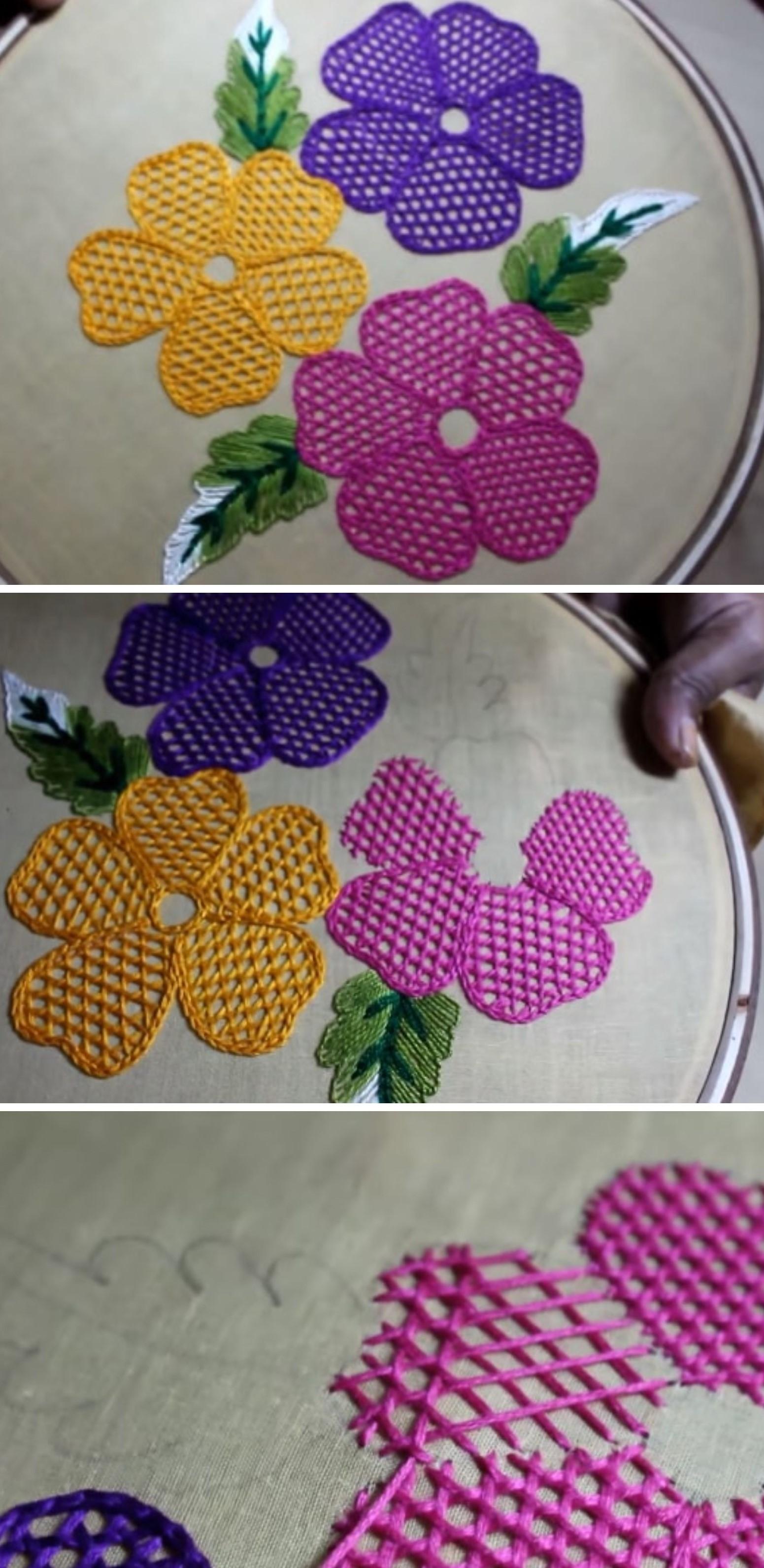Hand Embroidery Flower Tutorial   Pretty Ideas