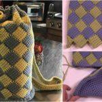 Crochet Entrelac Round Bag