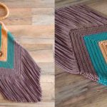 Fringed Chevron Purse