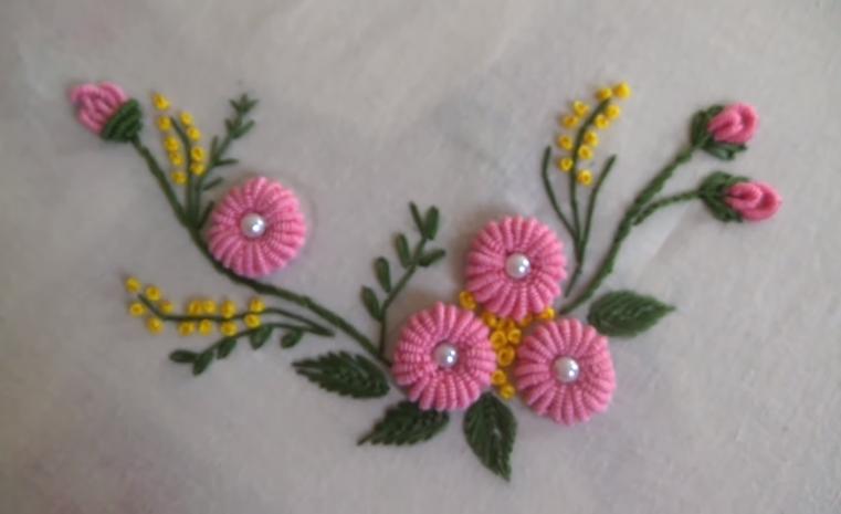 Ring Bullion Stitch Flower Pretty Ideas