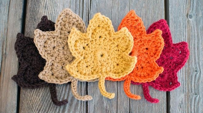 Crochet Fall Maple Leaves
