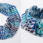 Crochet Butterfly Infinity Scarf