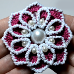 Crochet Beaded Flower