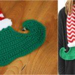 Crochet Jingle Bells Elf Scarf