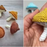 Crochet Colorful Mushrooms