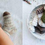 Crochet Snuggly Slipper Socks