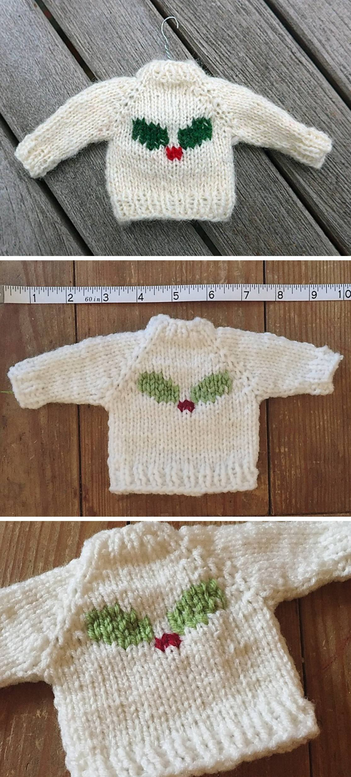 Mini Sweater For Christmas Tree