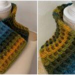 Crochet Waffle Stitch Cowl