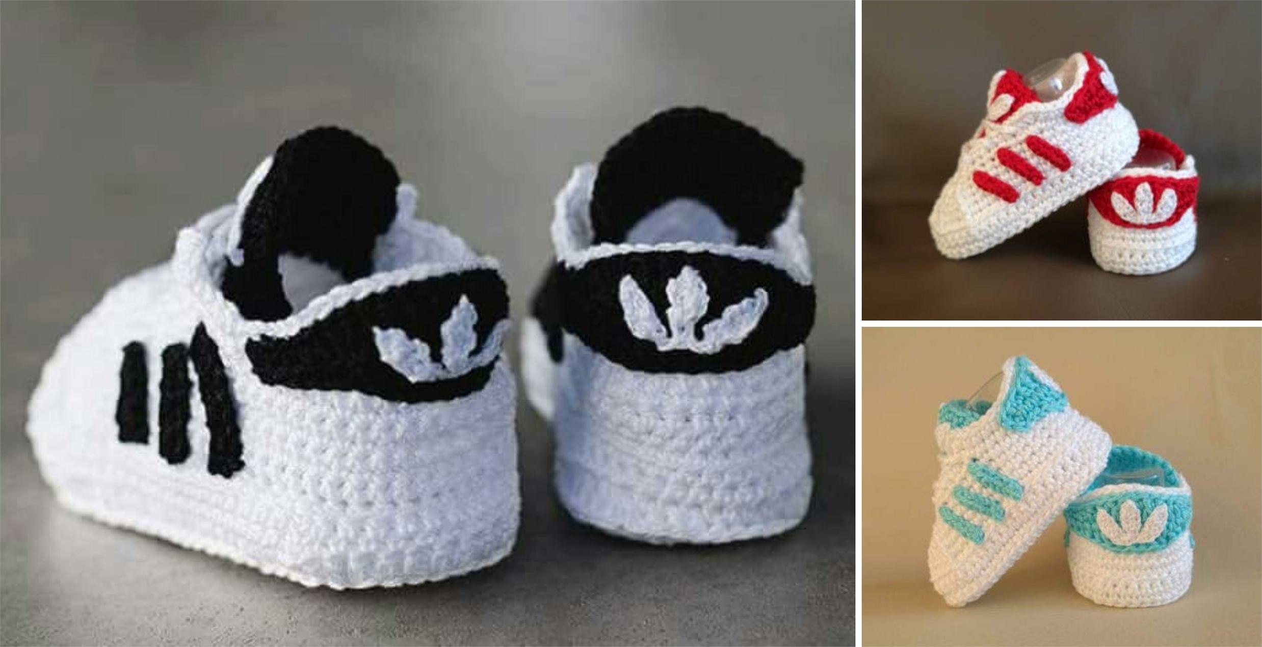 crochet vans baby booties free pattern