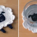 Crochet Lamb Coaster