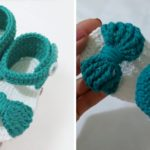 Crochet Baby Bow Shoes