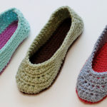 Crochet Ladies Slippers