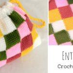 Crochet Entrelac Bag