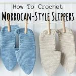 Crochet Moroccan-style Slippers