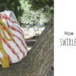 Crochet Swirled Stripes Bag
