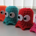 Crochet Pac-man and Ghosts by Andrea Leek