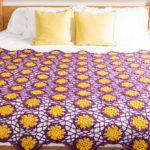 Crochet African Violet Afghan