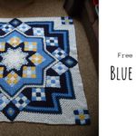 Crochet Blue Star Afghan