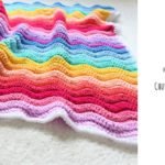 Crochet Chunky Rainbow Ripple Blanket