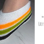 Knit Easy Striped Slippers