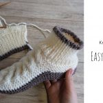 Knit Easy Celtic Slippers